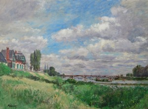 The Loire at Blois. Noon. by American impressionist John Modesitt, our first guest