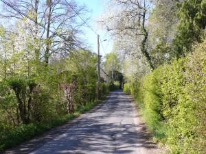 Halfway along Rue Basse des Grouets
